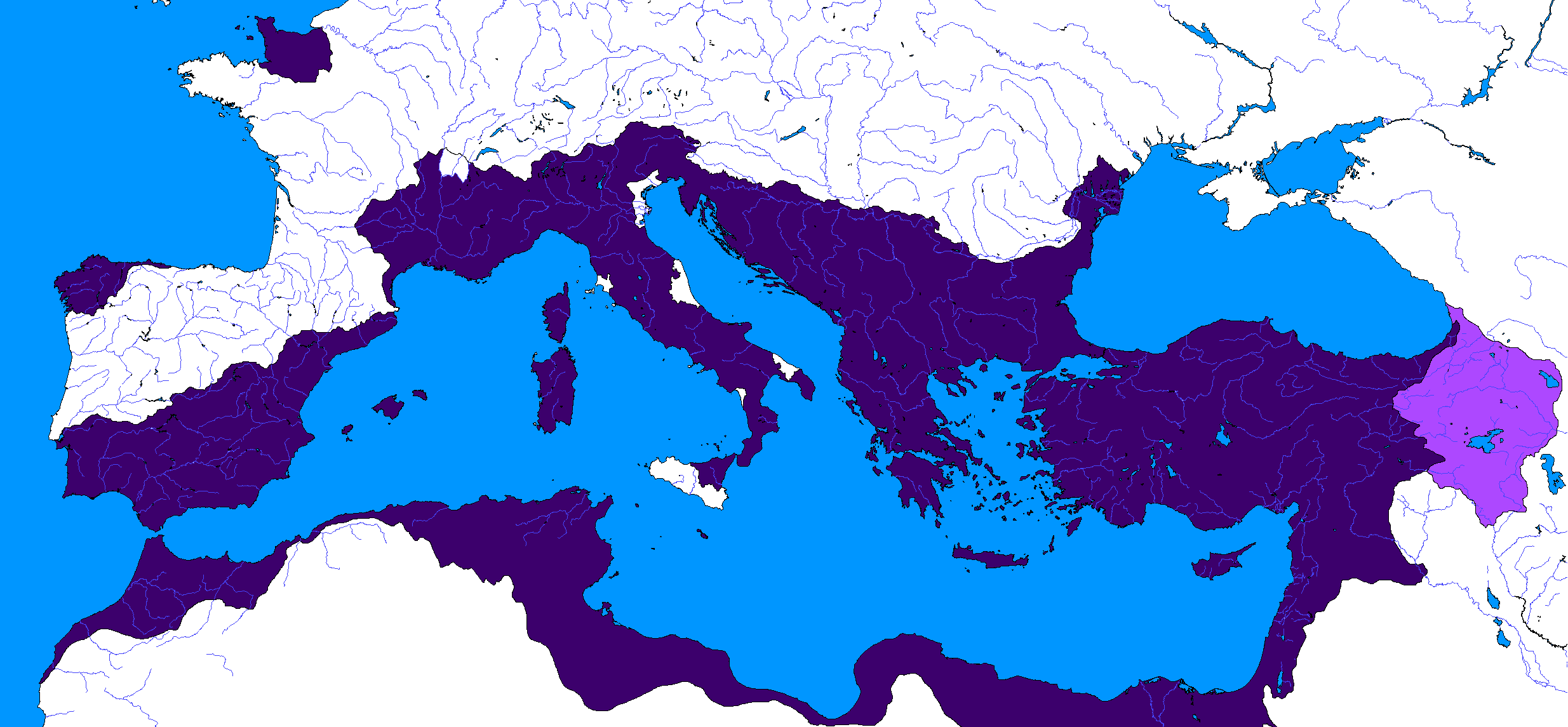 Map Of The Byzantine Empire At It S Greatest Extent