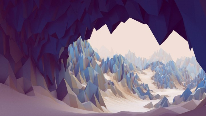 [1920 x 1080] Low Poly Ice Cave