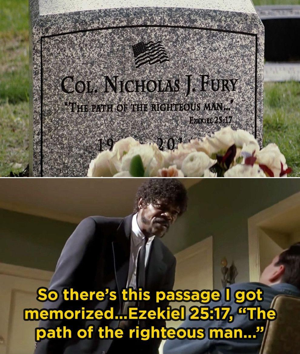 In CAPTAIN AMERICA 2, Nick Fury's grave has this very cool Pulp Fiction  reference – Little Movie Moments