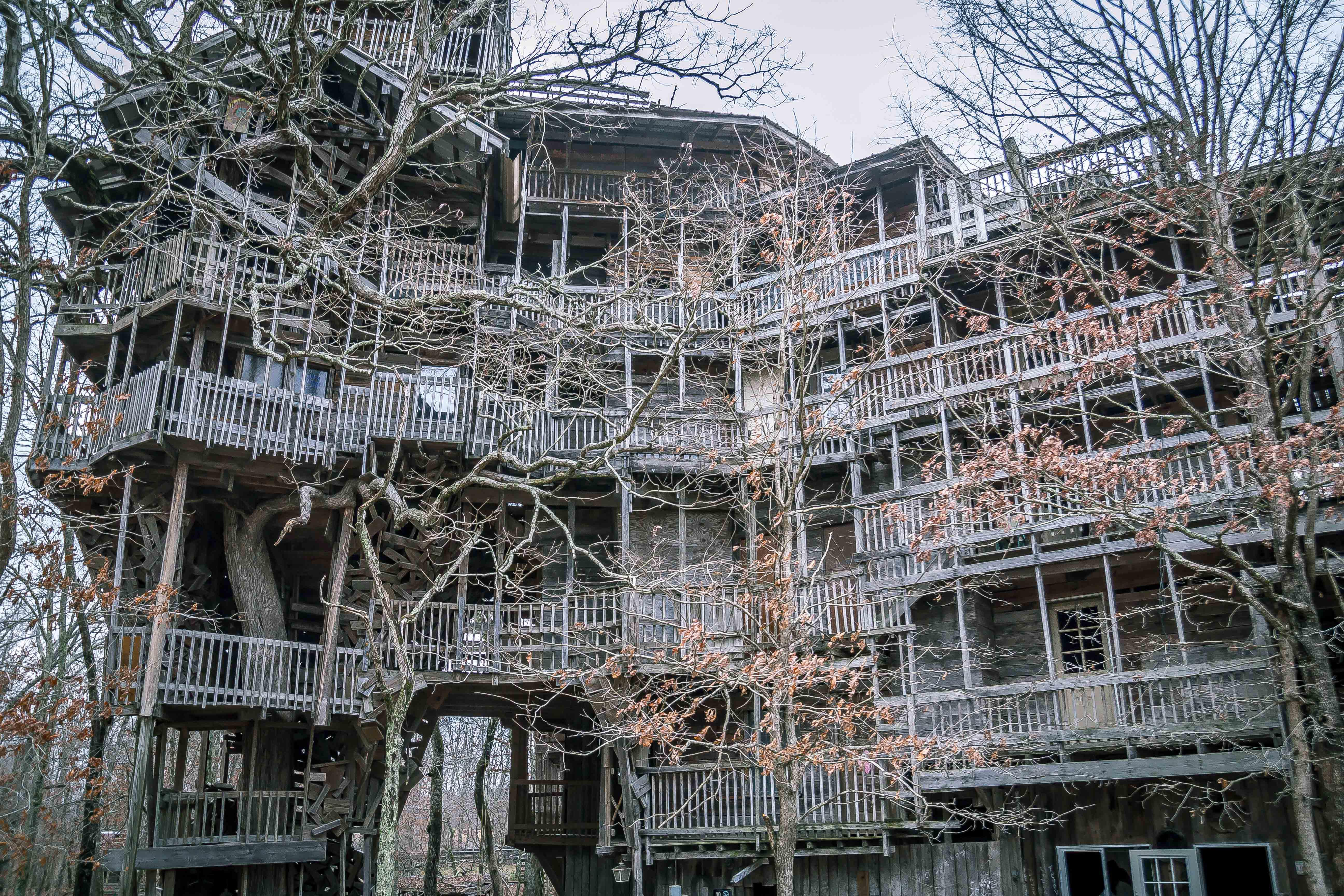 Last Night The Worlds Largest Treehouse Burned Down I Spent My Teenage Years Playing In It And Snapped This Photo In 2015 Pics