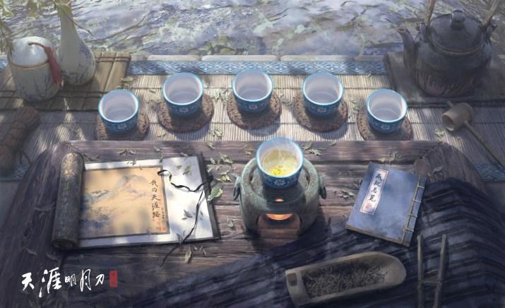 Morning tea by Xiaoyu Wang. [1920×1172]