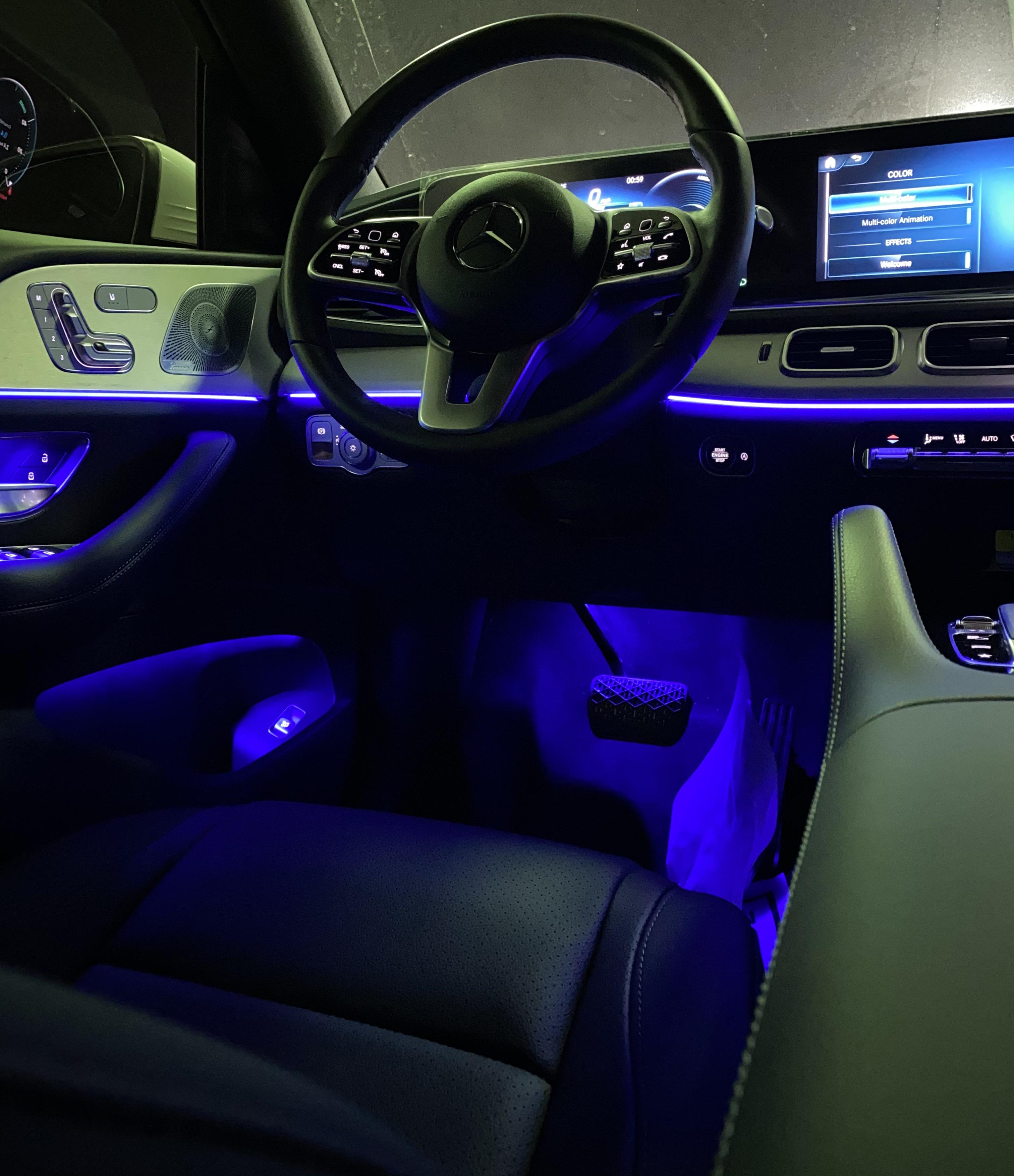 2020 gle350 the ambient lighting