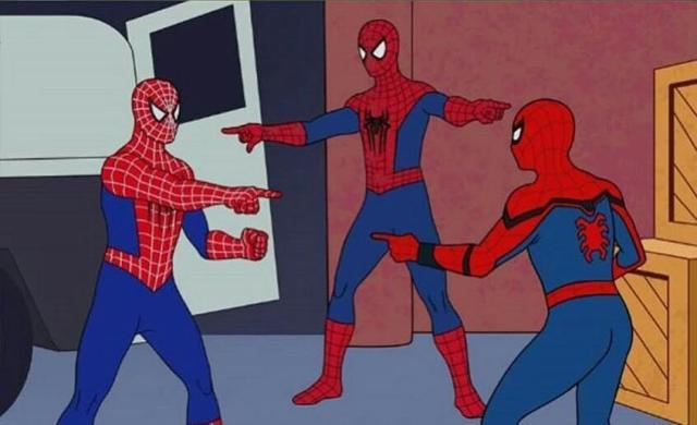 Meme do homem aranha atualizado, usem a vontade. : nhaa