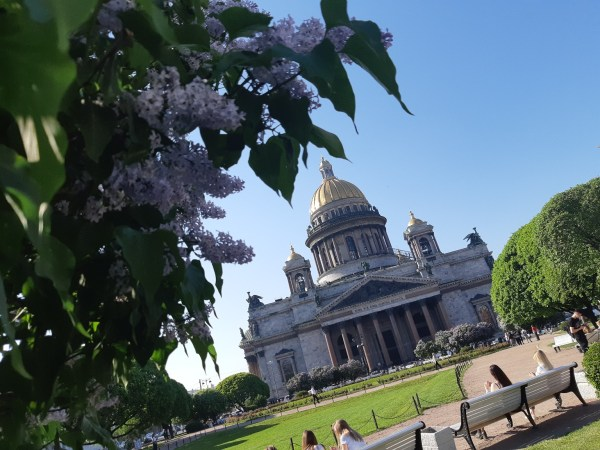 Spring in St. Petersburg, St. Isaac's Cathedral   Весна в ...
