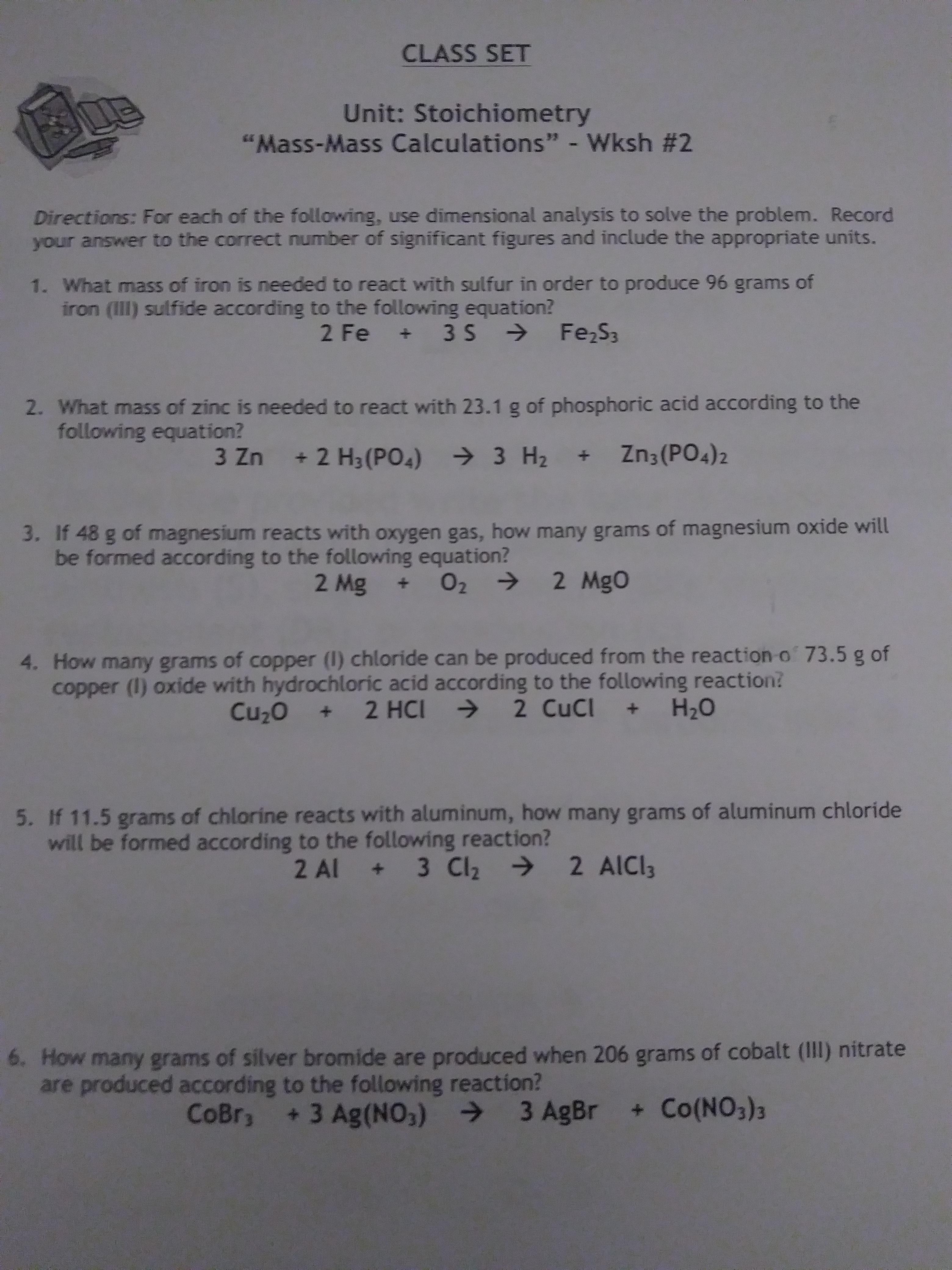 Highschool Stoichiometry Has Anyone Seen This Worksheet