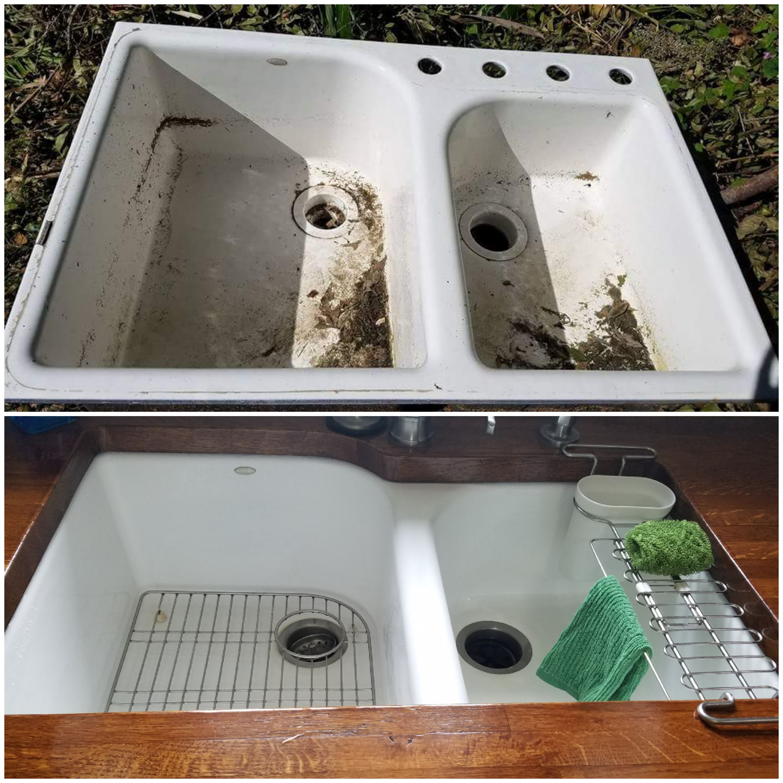 free kohler cast iron sink
