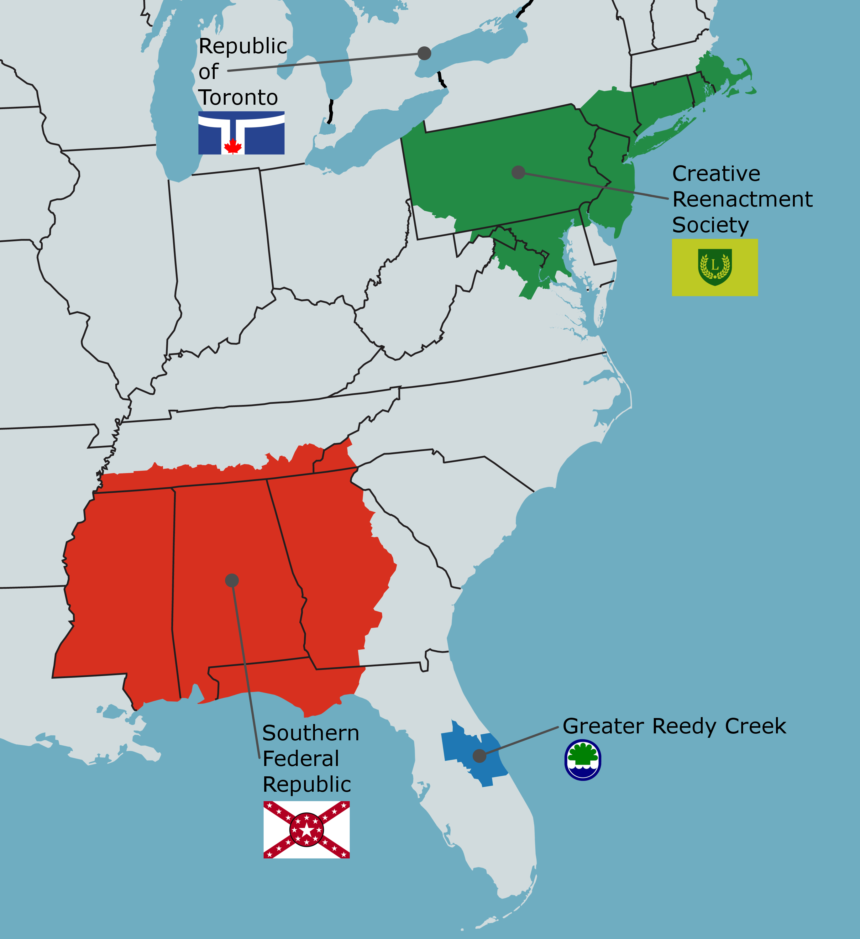 London Calling Map Of The North American East Coast