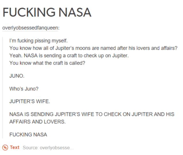 Cheating Jupiter Nasa On Your Ass