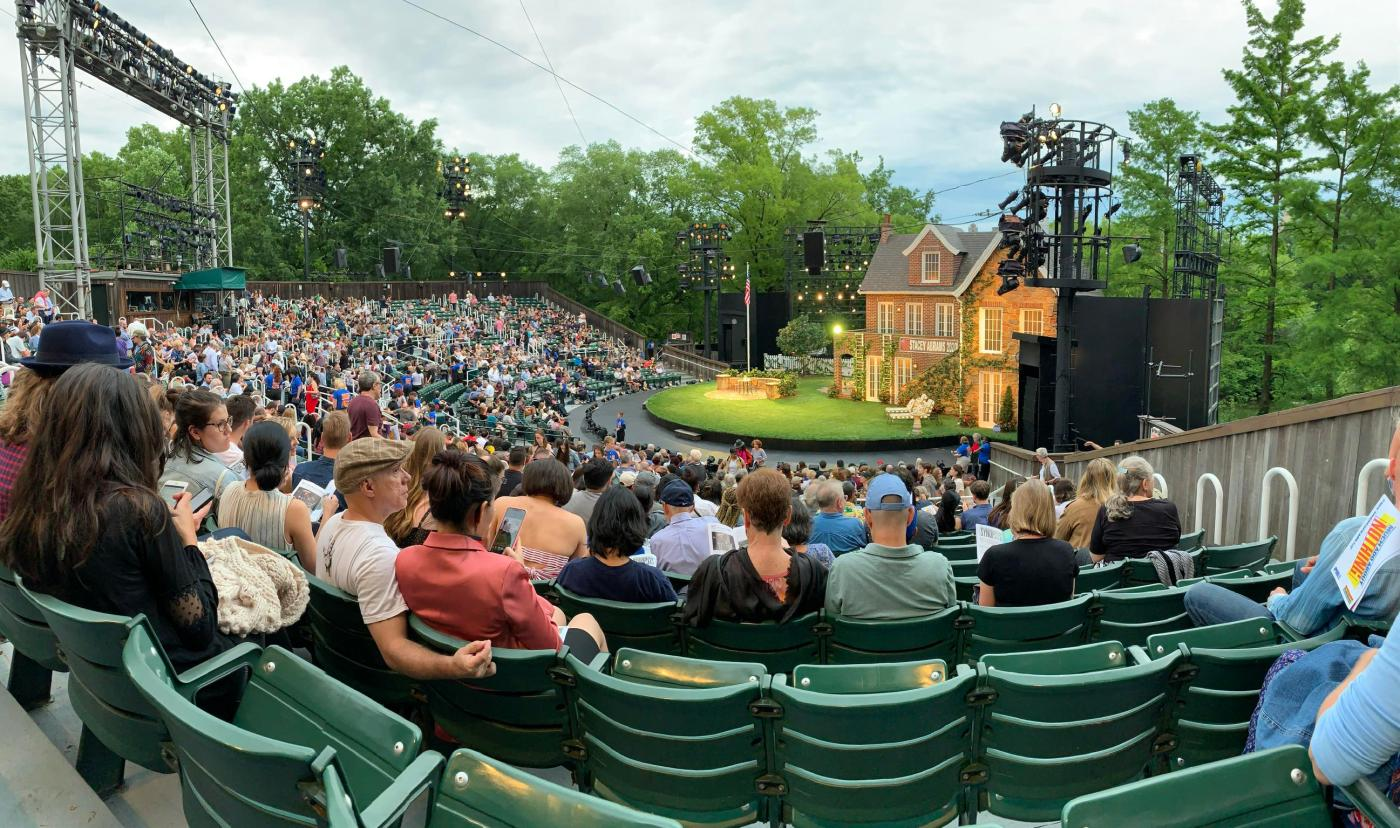 I went to Shakespeare in the Park on Saturday night. It was ...