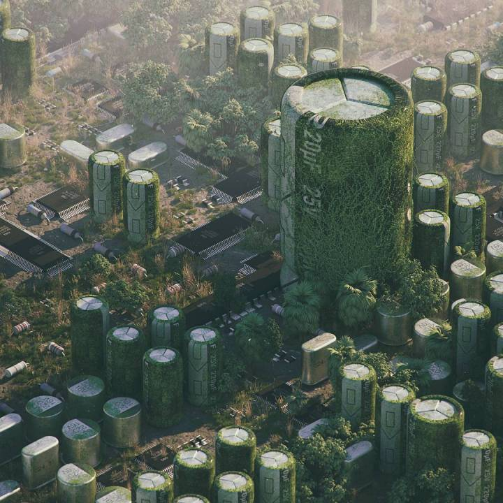 Micro City. [1080×1080]