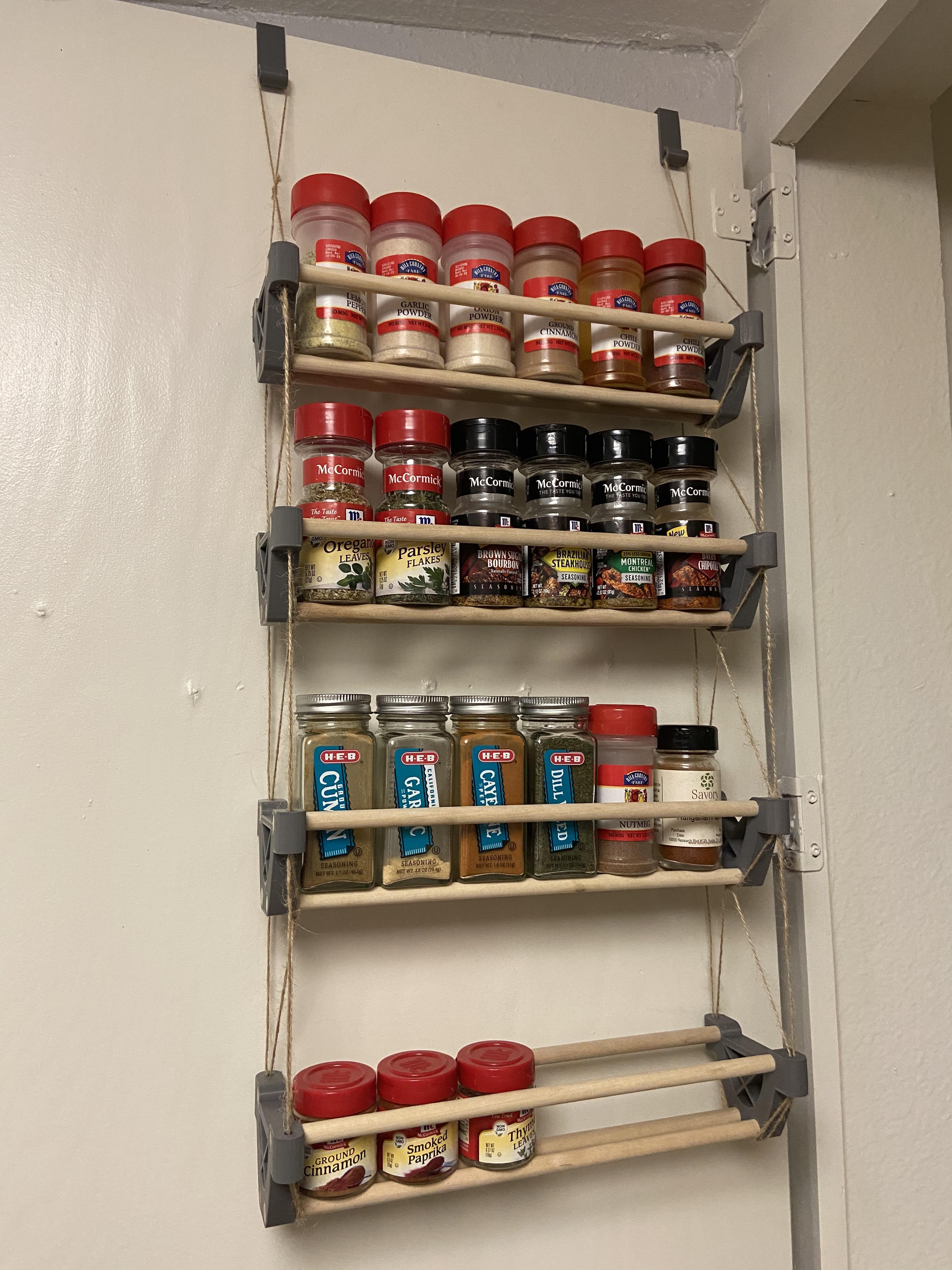spice rack that hangs on my pantry door