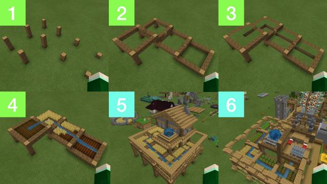How to make One Water Bucket Farm: Minecraft