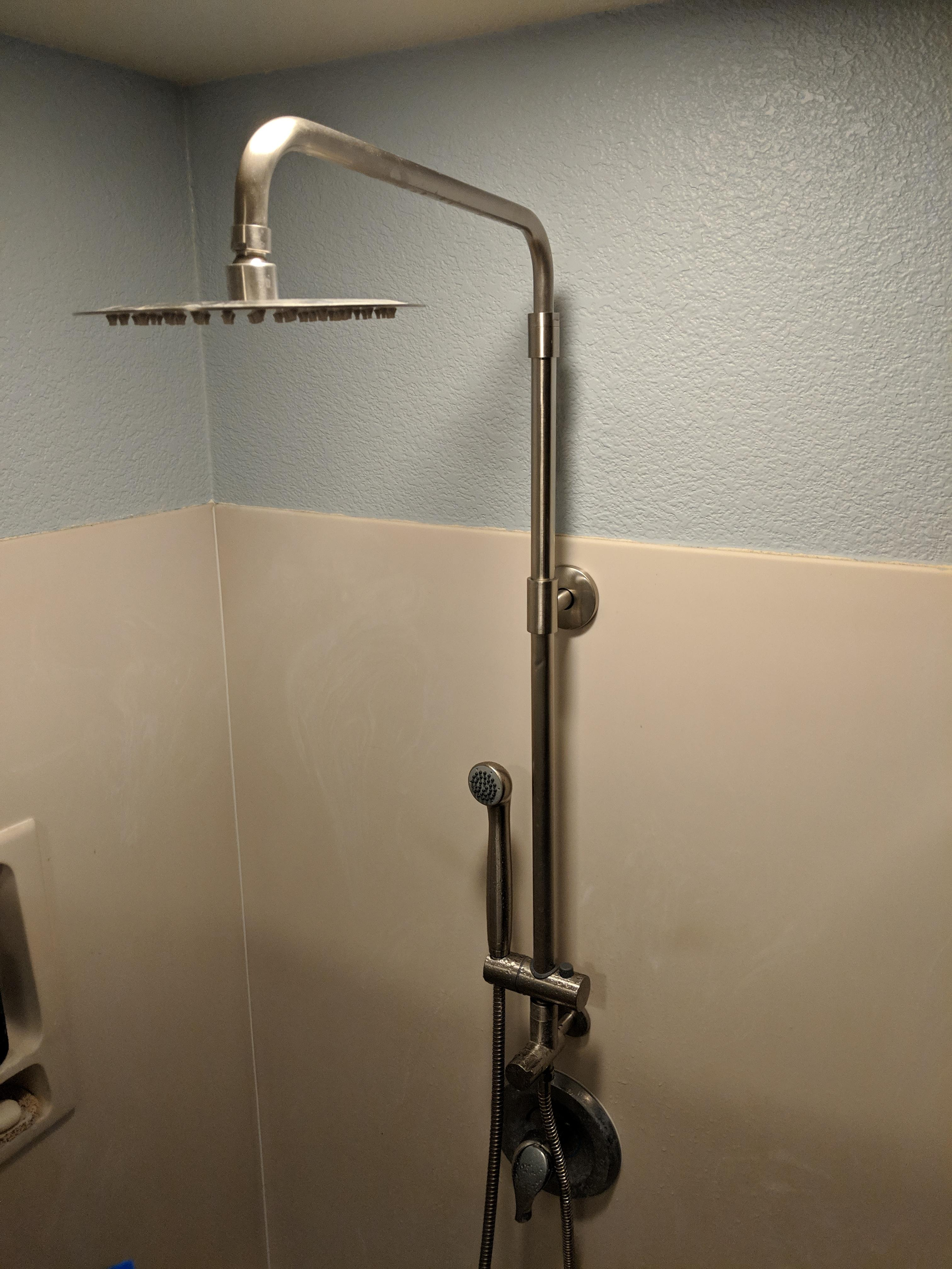 Shower Assembly With Adjustable Height Tall