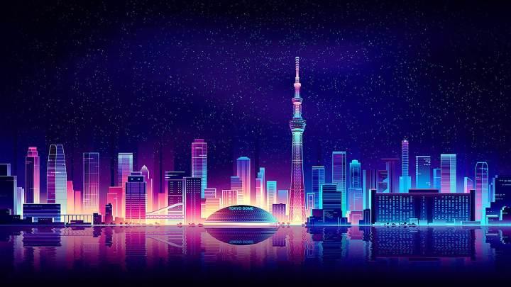 [2560×1440] Glowing skyline