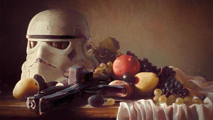 Trooper-Helmet on Still Life by Oliver Wetter [3840×2160]