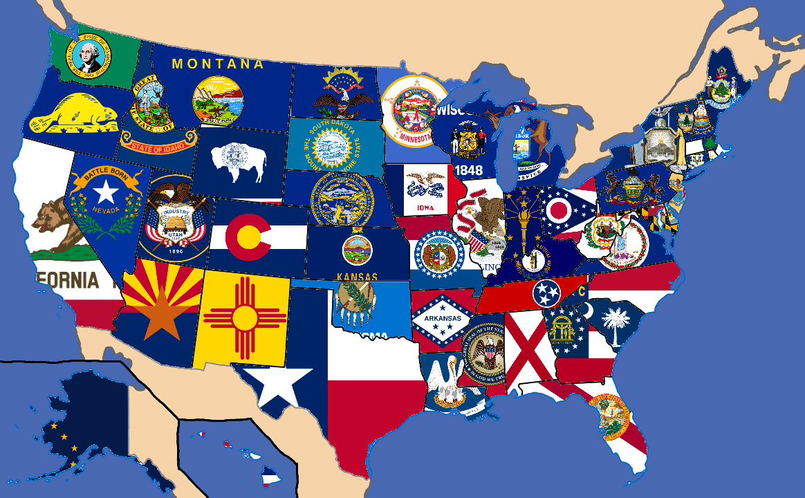 If you're in the market for a new house, you know that where you live can have a big impact on the house you buy. My United States Of American Flag Map States Only Not Accurate With Massachusetts Oregon Vexillology