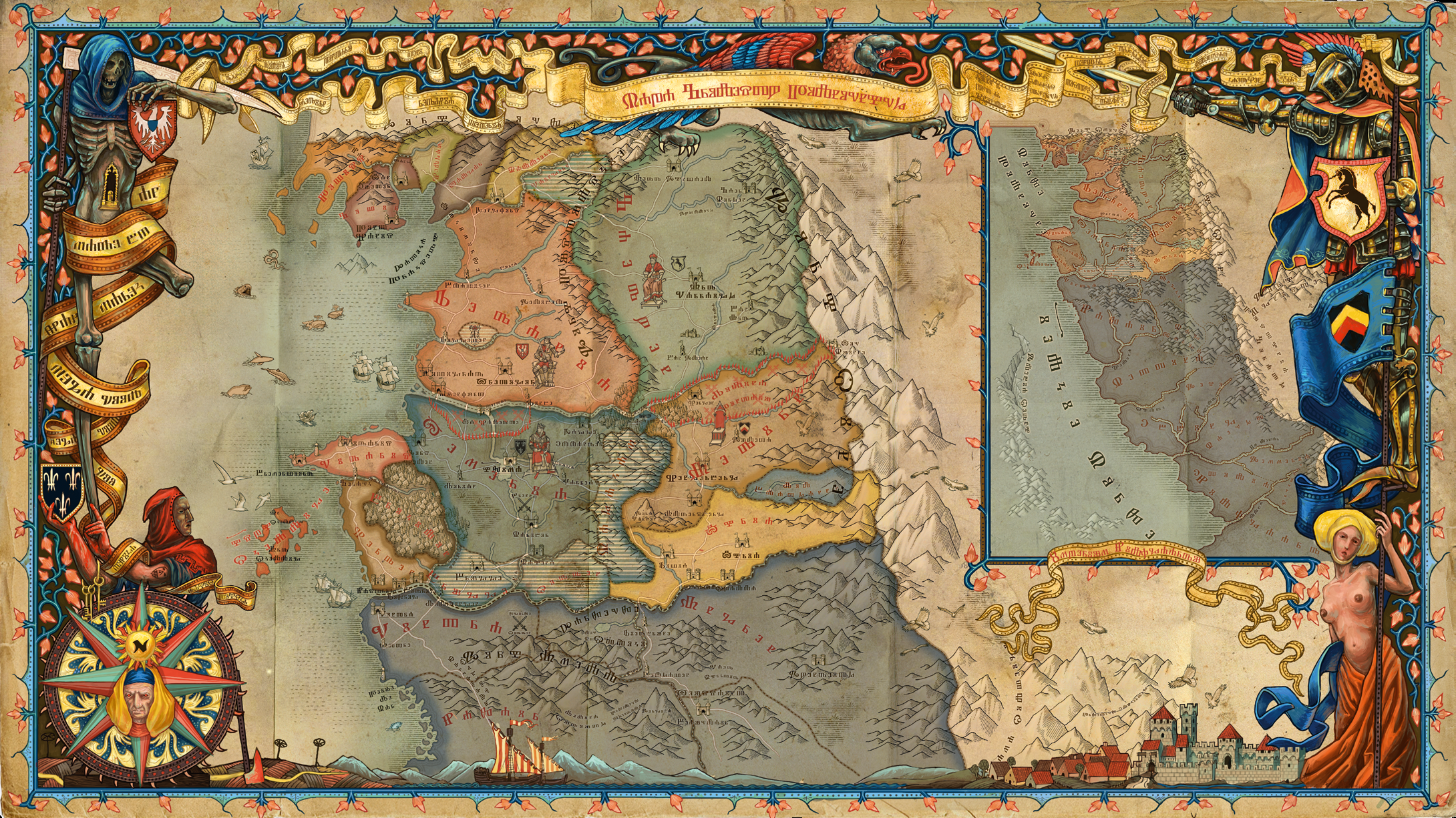 This map of the Witcher World from The Witcher 2 Artbook is truly      i redd it