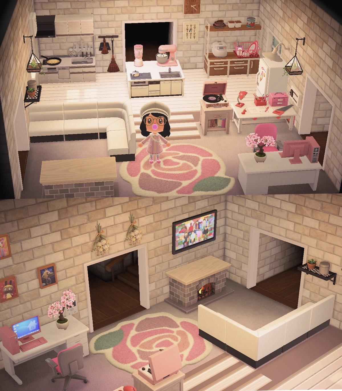 Duality of islander : ACNHIslandInspo on New Horizons Living Room  id=95604