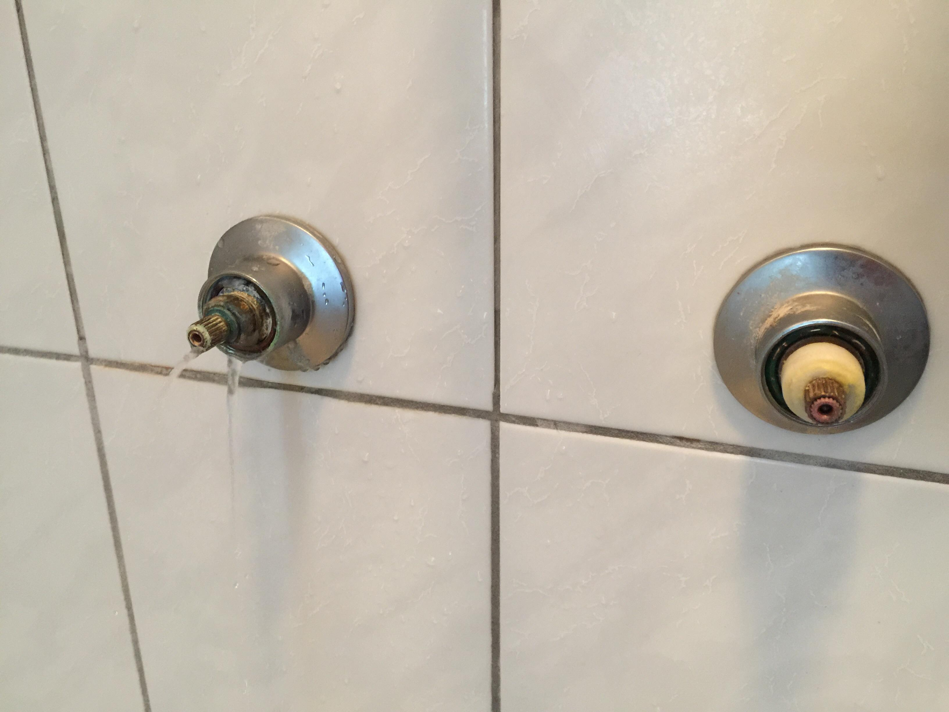 water leaking from shower faucet how