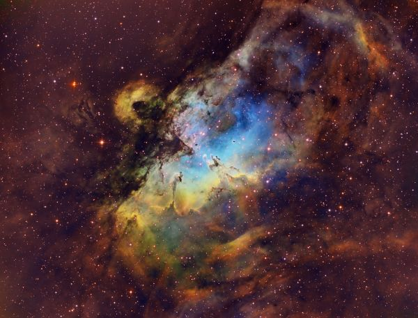 My 15 hour exposure of the Pillars of Creation and Eagle ...