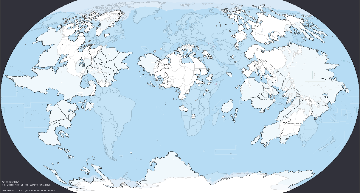 A Robinson Projection Of Strangereal By Izayoi Alpha On Alternatehistory Com With Our Earth Superimposed On Top Acecombat