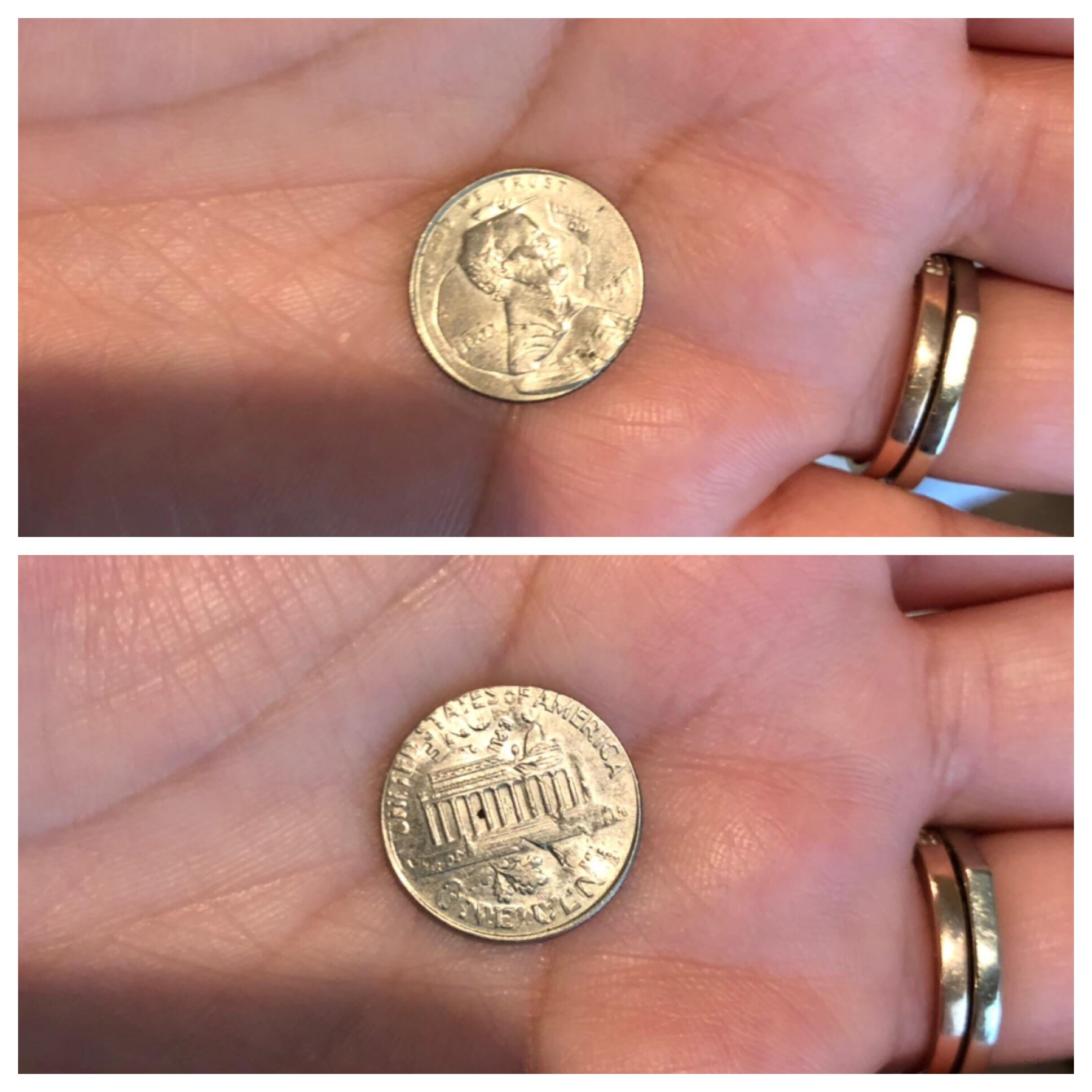 Double Printed Coin Dime Penny Anyone Know Anything About