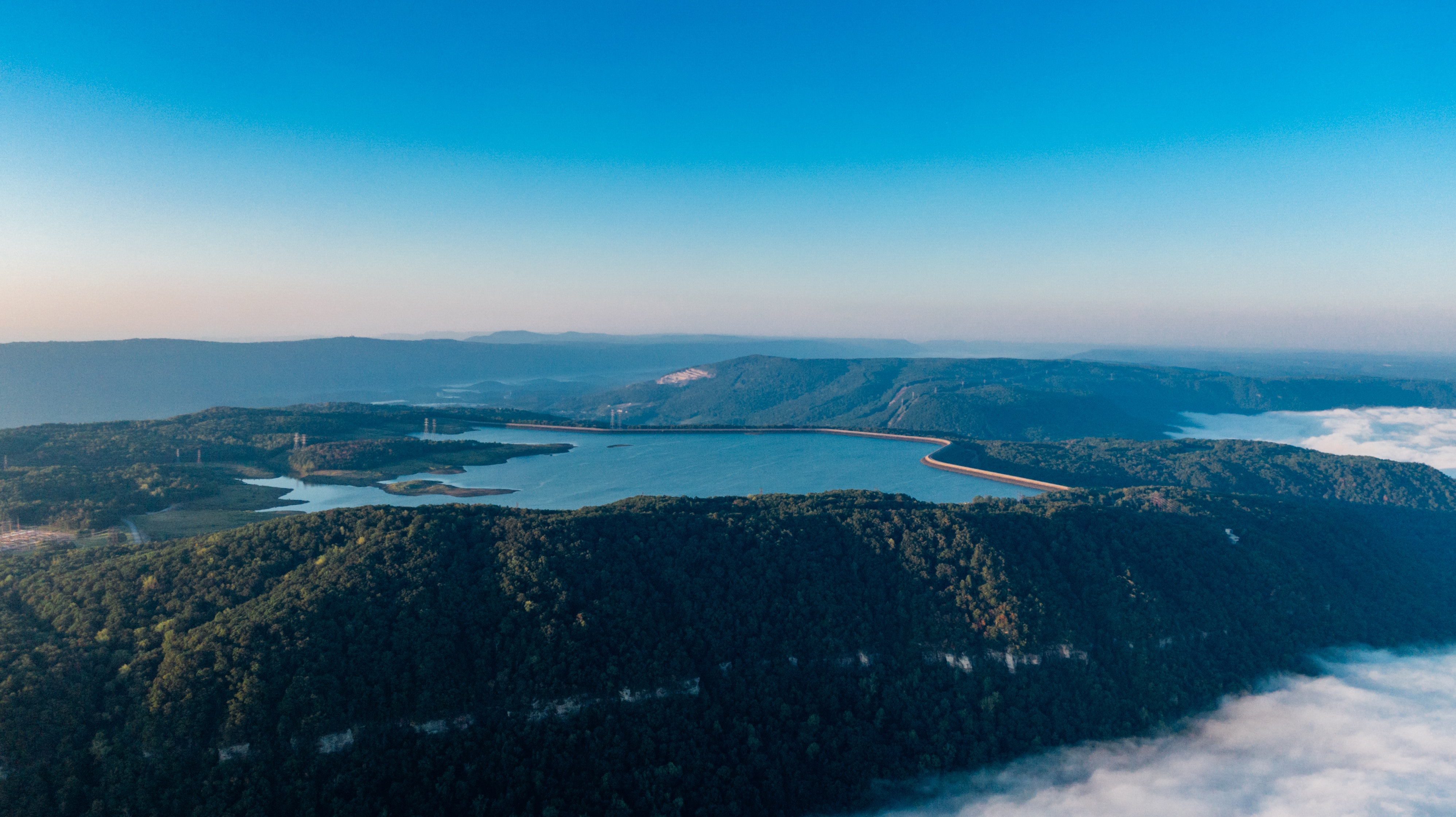 But there are a few more important fact. Aerial Picture Of Raccoon Mountain Reservoir Chattanooga