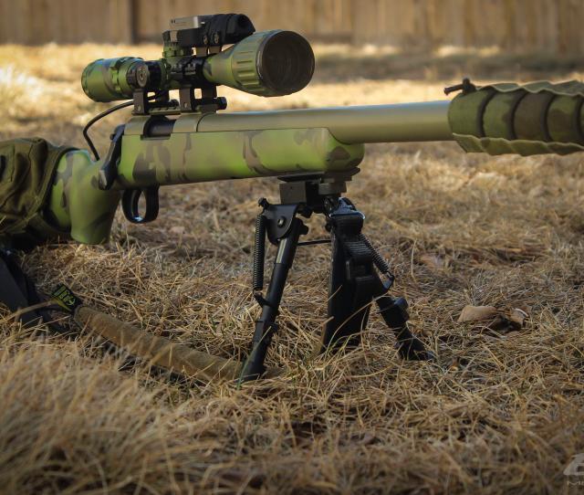 Tm Vsr10 G Spec Wolverine Bolt Action Army Hop Up And Barrel Custom Cerakote