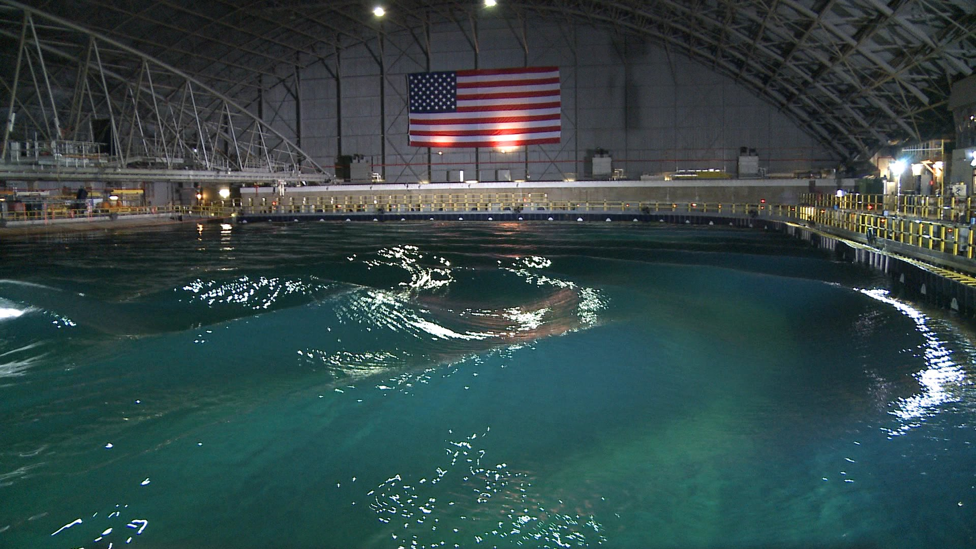 The Navy Has An Indoor Pool That They Use To Create Ocean