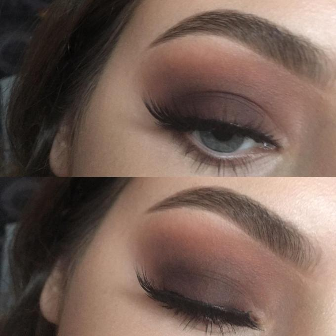 simple, soft & smokey eye look for the holidays