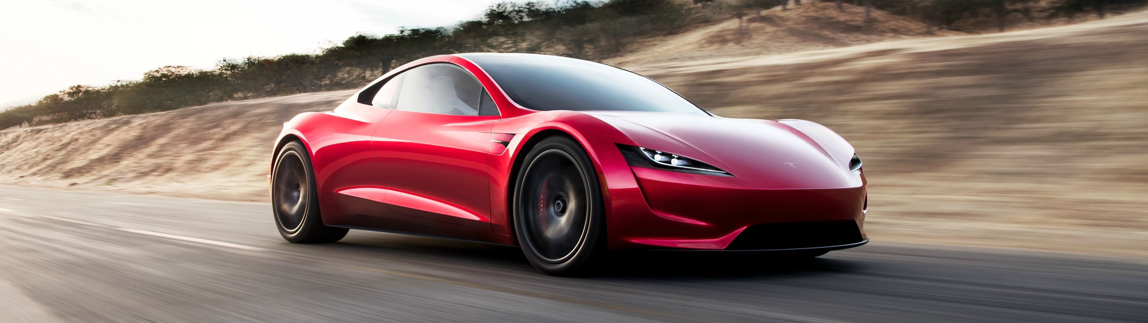 And it isn't always easy. 3840x1080 Tesla Roadster Multiwall