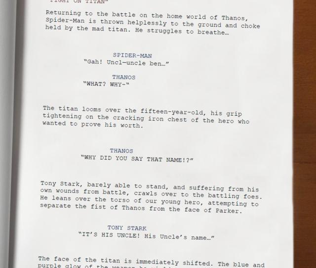 Satireinfinity War Battle On Titan Script Leak