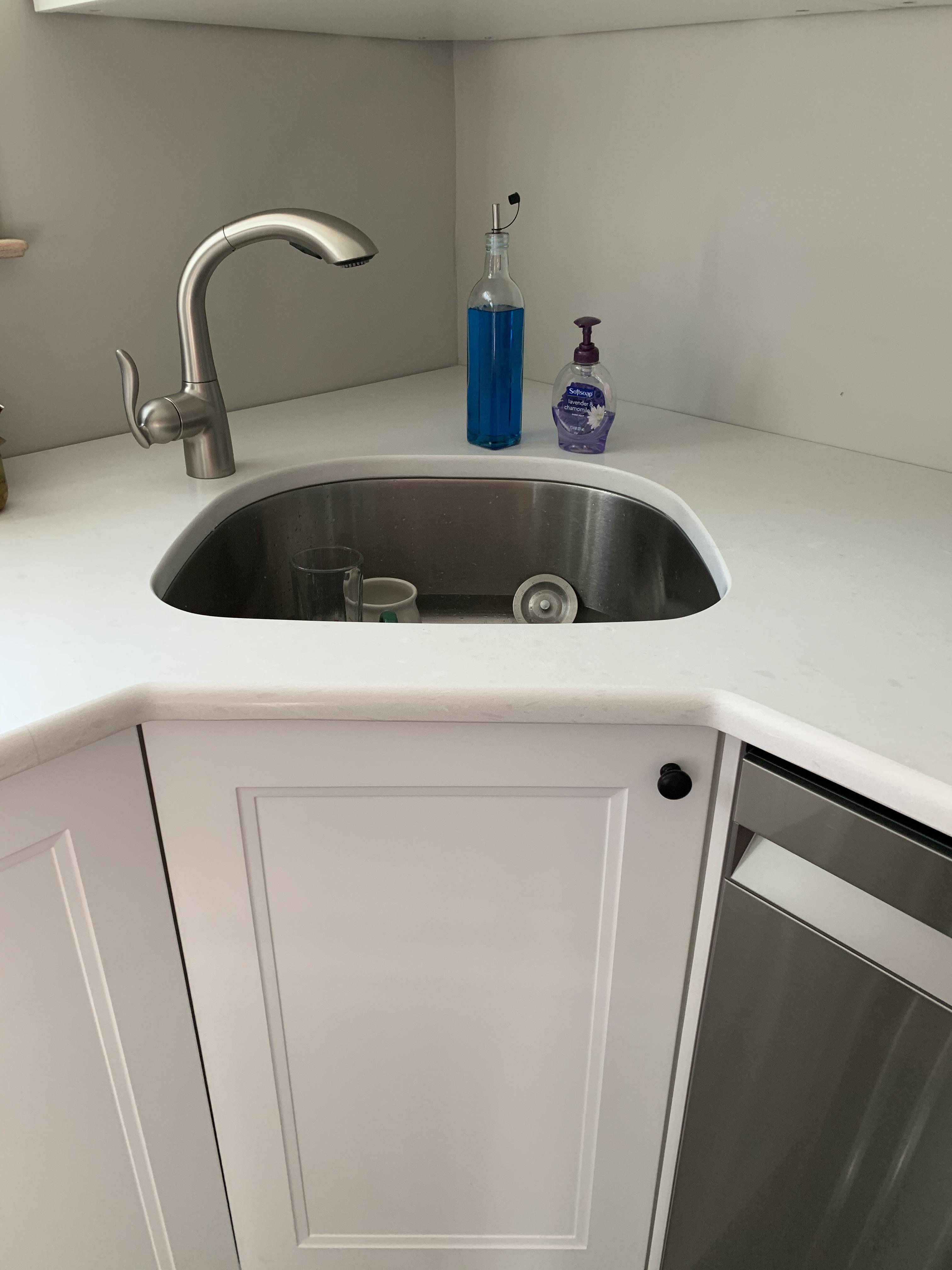 hacked a corner sink base using the