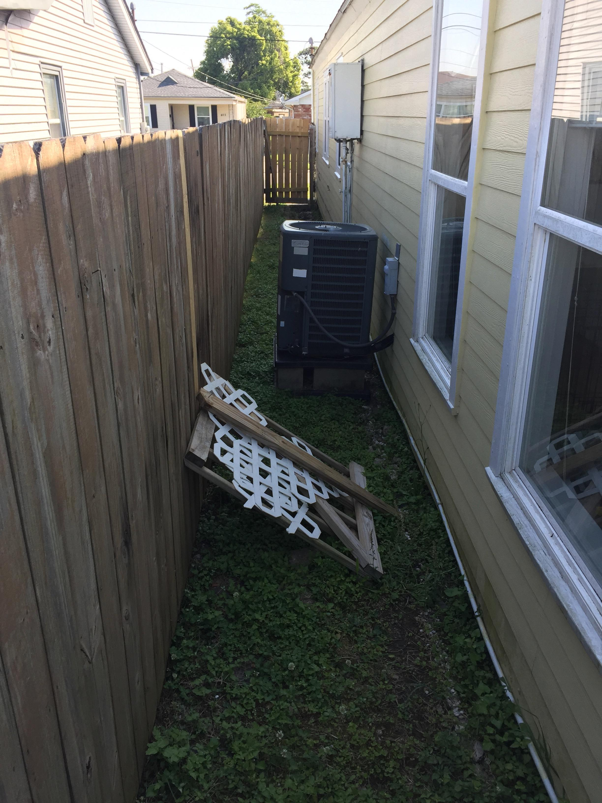 Any ideas on what to do with this narrow side yard? About ... on Side Yard Designs  id=79352