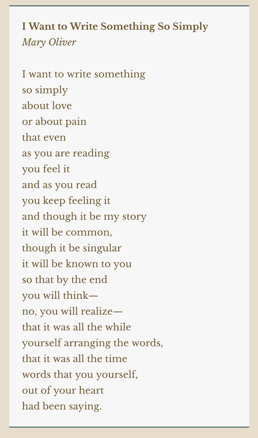 A Poem By Mary Oliver For Type 9s Enneagram