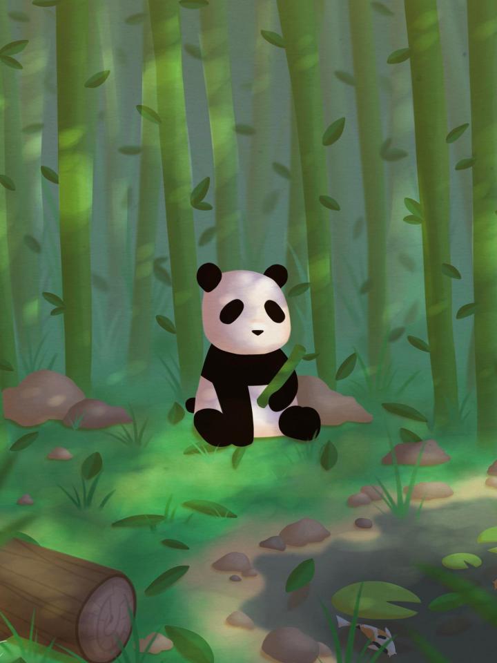 A panda I drew