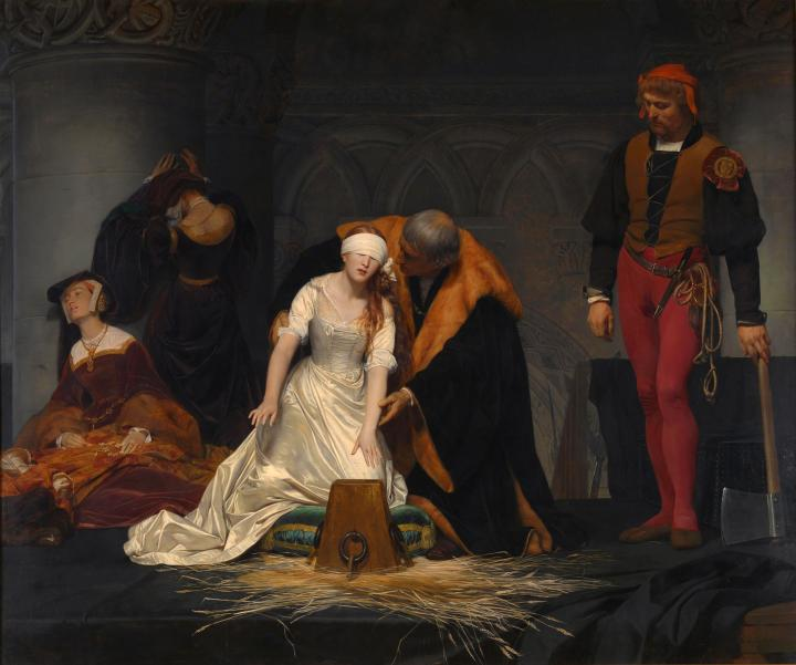 The execution of Lady Jane Grey (Paul Delaroche, 1833)