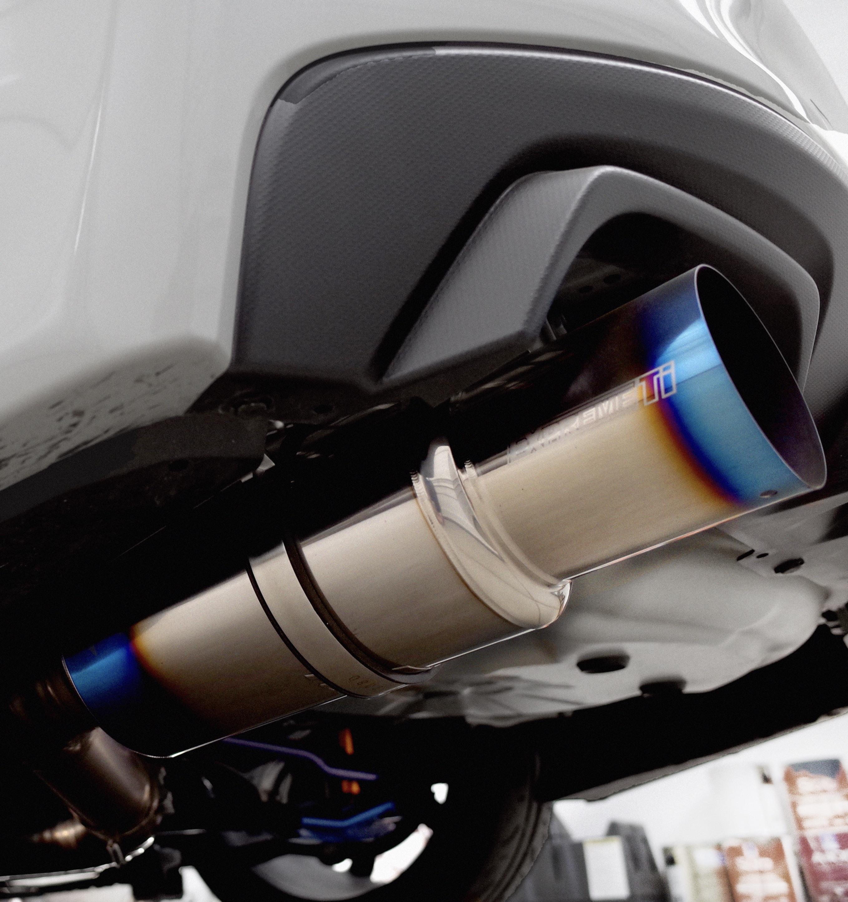 tomei expreme ti exhaust installed on