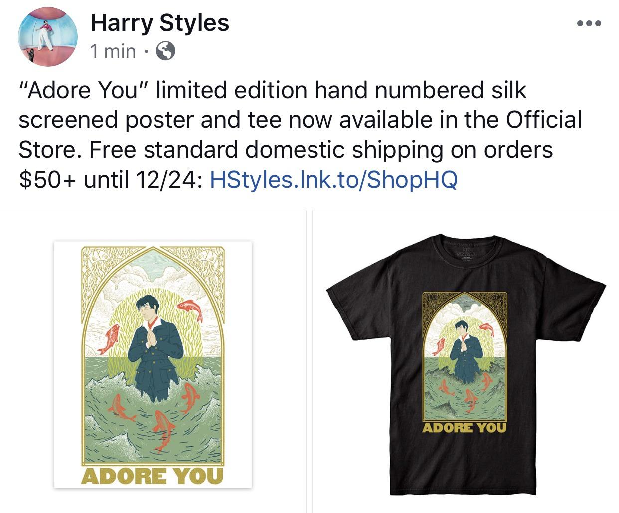 adore you poster and t shirt