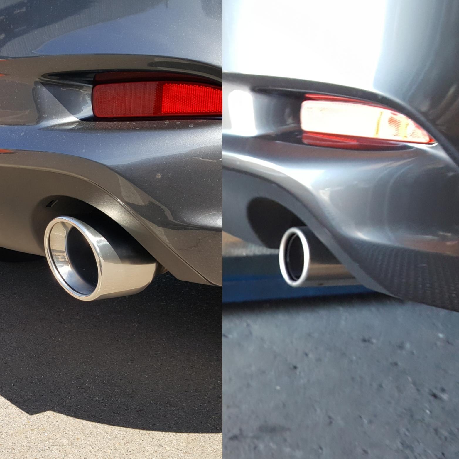swapped out the exhaust tips on my 17