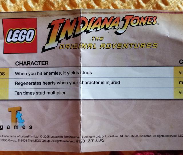 Cheat Codes For Lego Indiana Jones On Psp