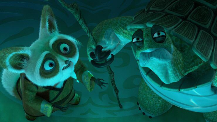 """In Kung Fu Panda, after Oogway tells him Tai Lung will return, Shifu orders Zeng to double the guard. Oogway warns """"One often meets his destiny on the road he takes to"""