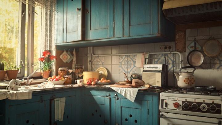 Granny's Kitchen by Alex Jerjomin [1920×1080]