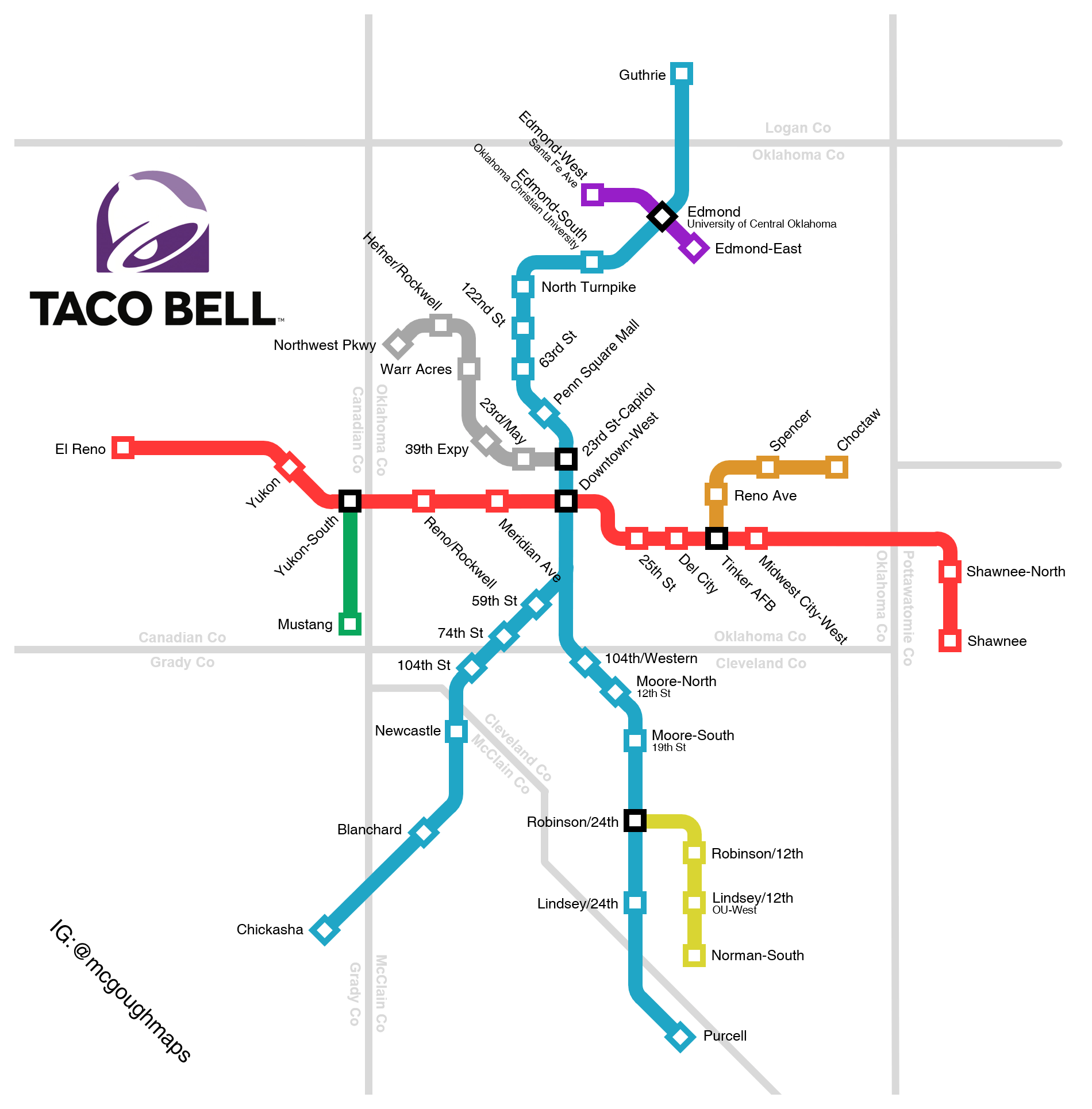 If Taco Bell Connected Their Okc Locations With A Rail