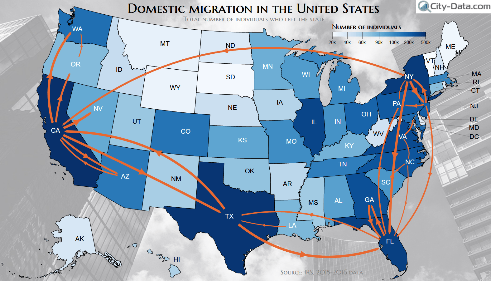 Domestic Migration In The United States Map