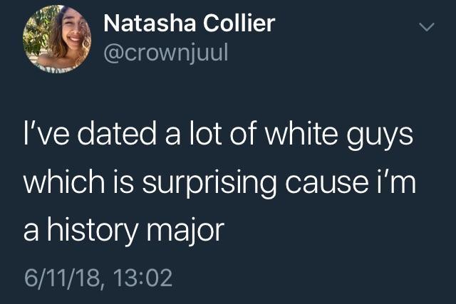 Dating a white guy jokes