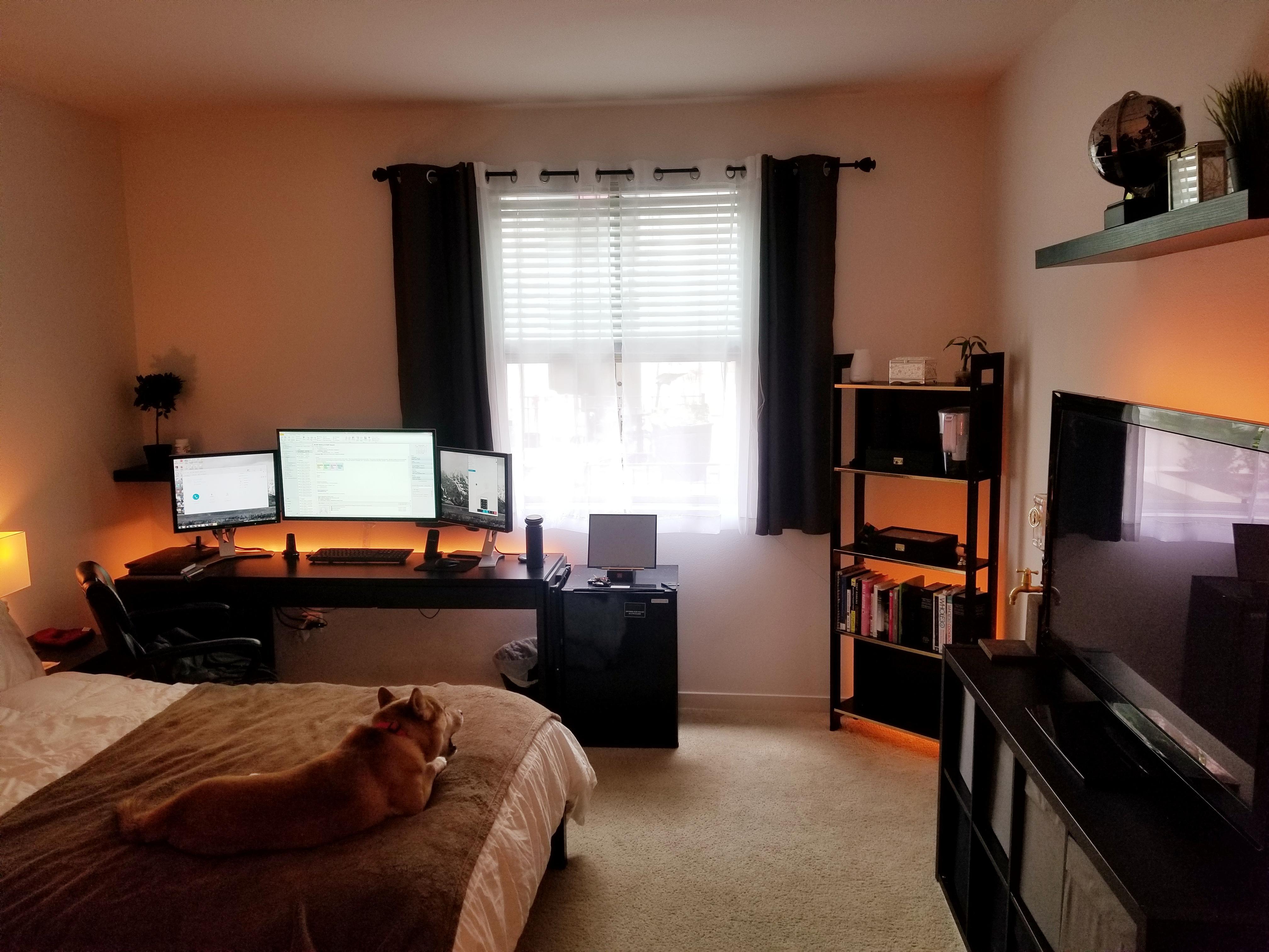 my bedroom office in california