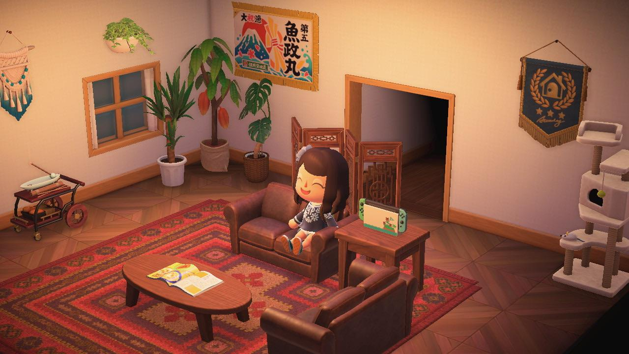 Welcome to my cozy living room! : AnimalCrossing on Animal Crossing Room Ideas New Horizons  id=18772