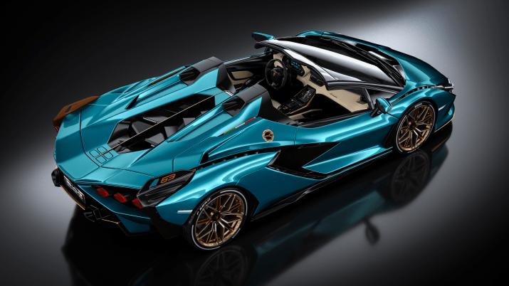 Lamborghini SIAN Roadster by Russ Schwenkler [2560×1440]