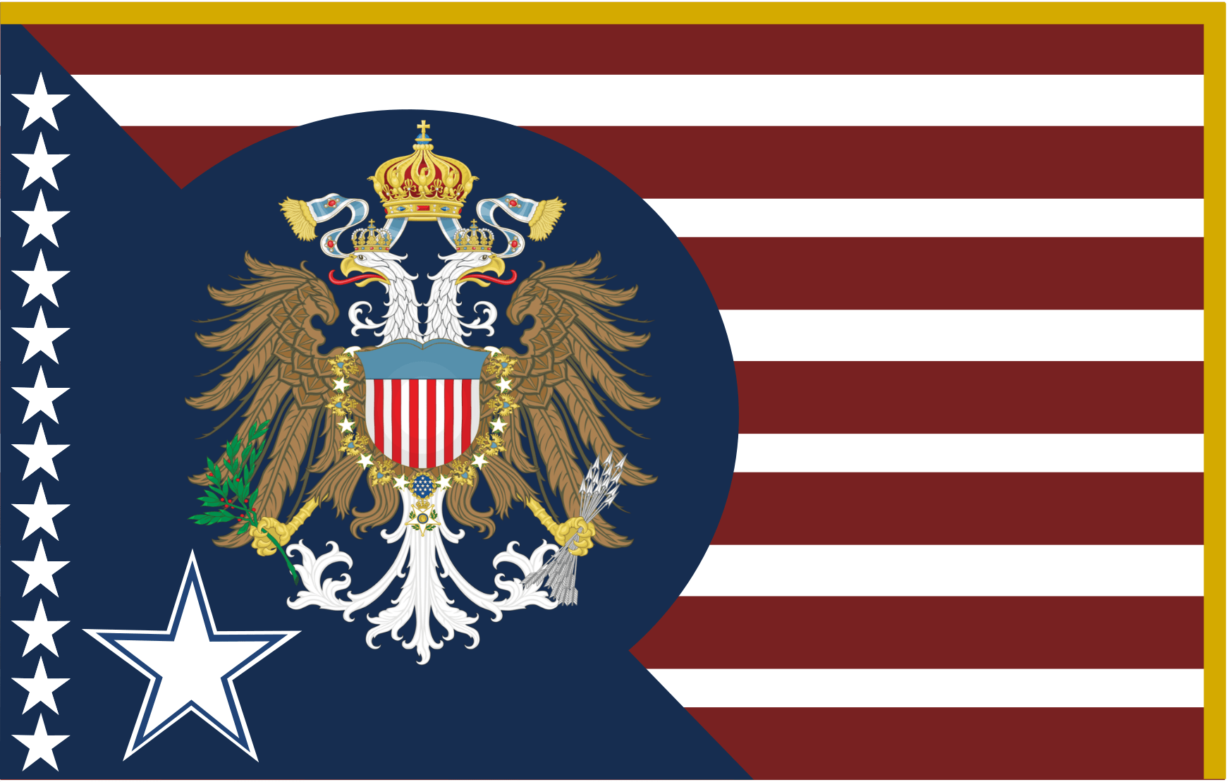 A Remake Of My Old If America Was A Monarchy Flag